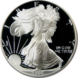 Image of 1995-W Silver Eagle $1 PCGS Proof 69 DCAM