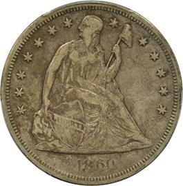 Image of 1860-O $1 PCGS/CAC VF25
