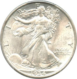 Image of 1934-D 50c PCGS/CAC MS65