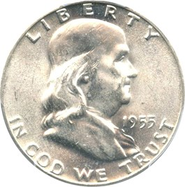 Image of 1955 50c PCGS MS64 FBL