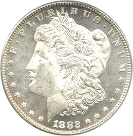 Image of 1882 $1 PCGS/CAC MS64 PL