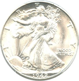 Image of 1942-D 50c PCGS/CAC MS66