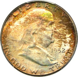 Image of 1952-D 50c PCGS/CAC MS66