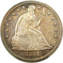 Image of 1844 $1 PCGS Proof 62