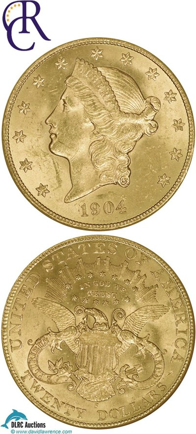Image of 1904-S $20  NGC MS64
