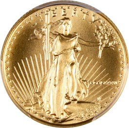 Image of 1986 Gold Eagle $10 PCGS MS70
