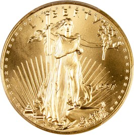 Image of 1997 Gold Eagle $50 PCGS MS70