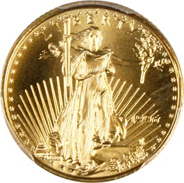 Image of 1996 Gold Eagle $5 PCGS MS70