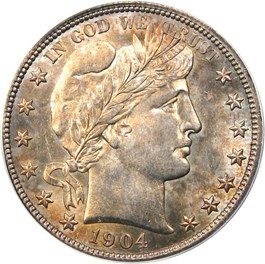 Image of 1904-S 50c PCGS/CAC MS65