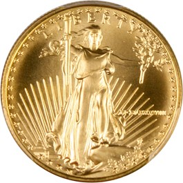 Image of 1988 Gold Eagle $25 PCGS MS70