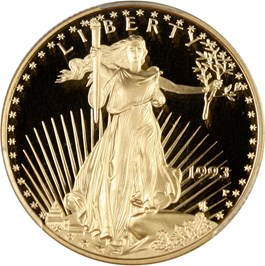 Image of 1993-P Gold Eagle $25 PCGS Proof 70 DCAM