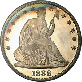 Image of 1888 50c PCGS Proof 66+ CAM