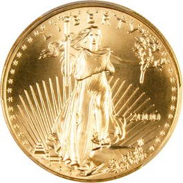 Image of 2000 Gold Eagle $50 PCGS MS70