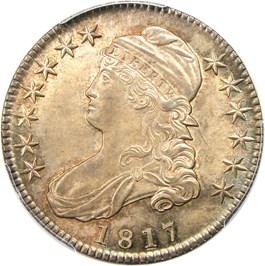 Image of 1817 50c PCGS/CAC MS64