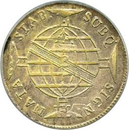 Image of Brazil: 1816-B Silver 960 Reis PCGS AU50 (KM-307.1) .7746oz Silver