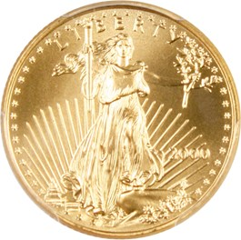 Image of 2000 Gold Eagle $10 PCGS MS69