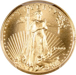 Image of 1999-W Gold Eagle $5 PCGS MS69 (Unfinished PR Dies)