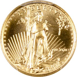 Image of 1990 Gold Eagle $5 PCGS MS69