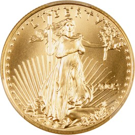Image of 2002 Gold Eagle $25 PCGS MS70