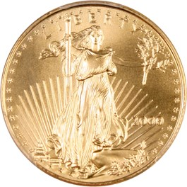Image of 2000 Gold Eagle $25 PCGS MS69