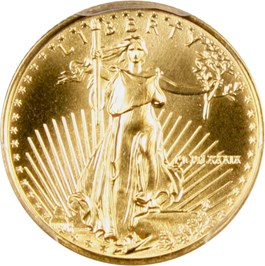 Image of 1989 Gold Eagle $5 PCGS MS69