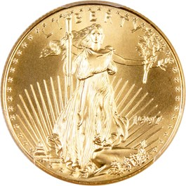 Image of 1997 Gold Eagle $25 PCGS MS69