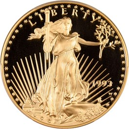 Image of 1993-W Gold Eagle $50 PCGS Proof 70 DCAM