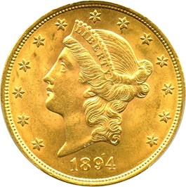Image of 1894-S $20 PCGS MS63