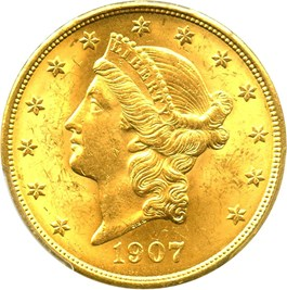 Image of 1907 Liberty $20 PCGS MS63