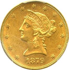 Image of 1879-S $10 PCGS MS61