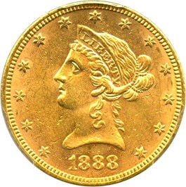 Image of 1888 $10 PCGS MS62