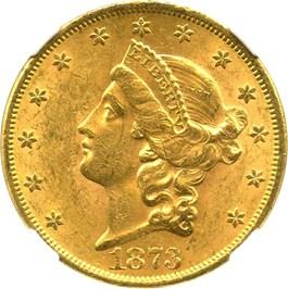 Image of 1873 $20 NGC MS61 (Open 3)