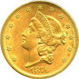 Image of 1876-S $20 PCGS MS61