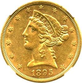 Image of 1895-S $5 NGC AU55