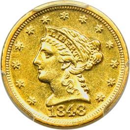 Image of 1848-D $2 1/2 PCGS AU55