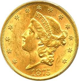 Image of 1875 $20 PCGS MS61
