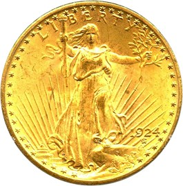 Image of 1924 $20 PCGS/CAC MS65 (OGH Rattler Holder)