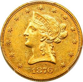 Image of 1876 $10 PCGS/CAC AU58