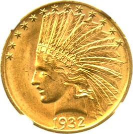 Image of 1932 $10 NGC MS62