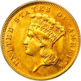 Image of 1878 $3 PCGS MS63