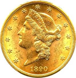 Image of 1890-S $20 PCGS MS61