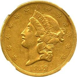 Image of 1853 $20 NGC XF40