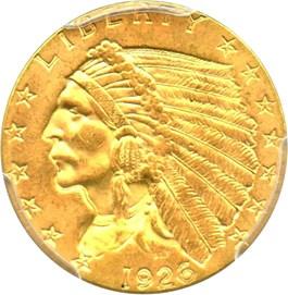Image of 1926 $2 1/2 PCGS MS64