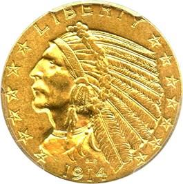 Image of 1914 $5 PCGS MS62