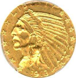 Image of 1913-S $5 PCGS AU55