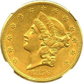 Image of 1856-S $20 NGC AU58