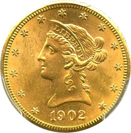 Image of 1902-S $10 PCGS MS64