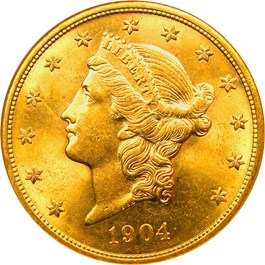Image of 1904 $20 NGC MS63