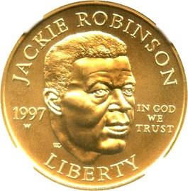 Image of 1997-W Jackie Robinson $5 NGC MS69