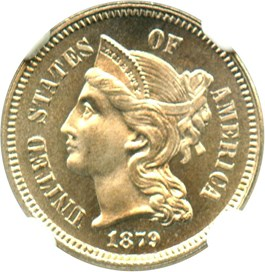 Image of 1879 3cN NGC/CAC Proof 66